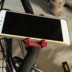 475円のアルミ製自転車スマホホルダー、アリエクスプレスで購入
